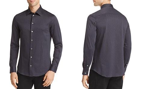 Emporio Armani Geo Print Regular Fit Button-Down Shirt - Bloomingdale's_2