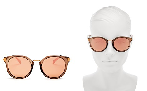 Le Specs Women's Last Dance Mirrored Round Sunglasses, 51mm - Bloomingdale's_2