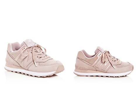 New Balance Women's 574 Nubuck Leather Lace Up Sneakers - Bloomingdale's_2