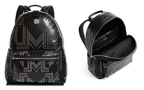 MCM Rebel Tumbler Medium Studded Leather Backpack - Bloomingdale's_2