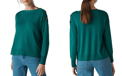 Whistles Button-Detail Sweater - Bloomingdale's_2
