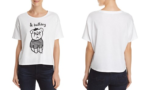 FRENCH CONNECTION Le Bulldog Graphic Tee - Bloomingdale's_2