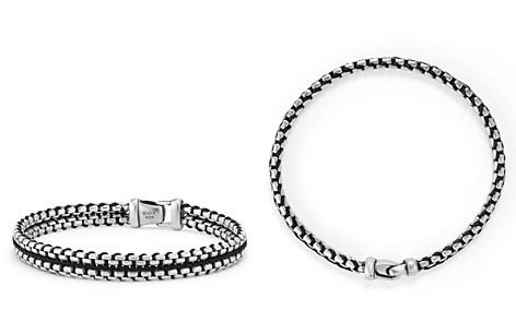David Yurman Woven Box Chain Bracelet in Black - Bloomingdale's_2