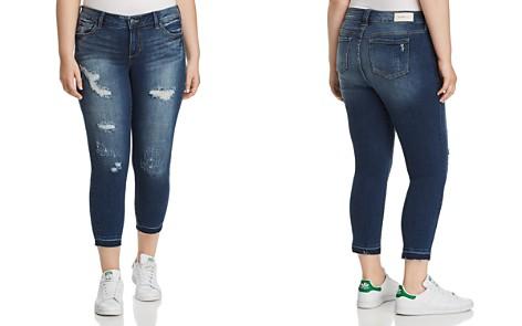 SLINK Jeans Plus Distressed Released-Hem Ankle Jeans in Molly Medium Wash - Bloomingdale's_2