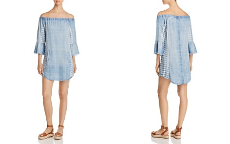 Billy T Off-the-Shoulder Chambray Dress - Bloomingdale's_2