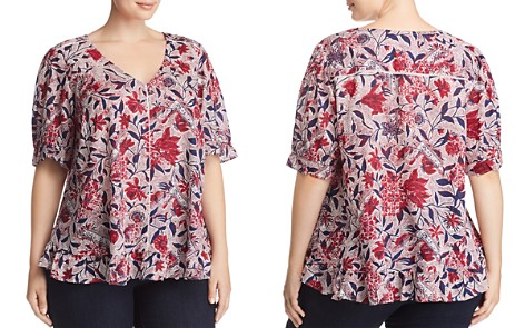 Lucky Brand Plus Floral-Print Ruffle Top - Bloomingdale's_2