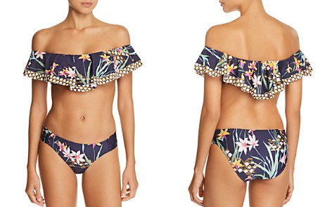 Trina Turk Fiji Floral Mix Off-the-Shoulder Bandeau Bikini Top & Fiji Floral Mix Bikini Bottom - Bloomingdale's_2