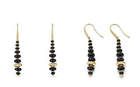 David Yurman Rio Rondelle Drop Earrings with Black Onyx in 18K Gold - Bloomingdale's_2