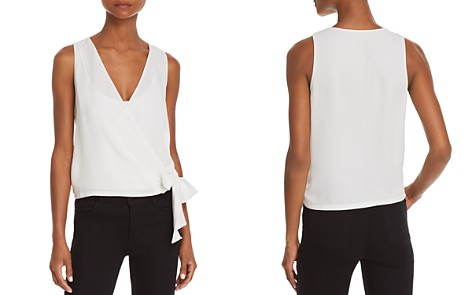 AQUA Sleeveless Faux-Wrap Top - 100% Exclusive - Bloomingdale's_2