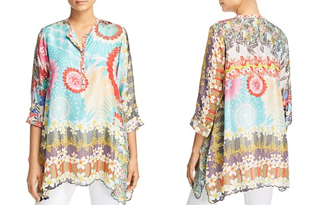 Johnny Was Collection Scalloped Printed Silk Tunic - Bloomingdale's_2