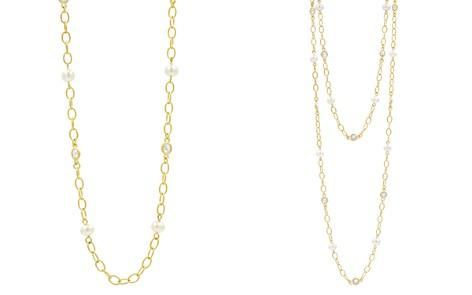 "Freida Rothman Cultured Freshwater Pearl Textured Link Chain Necklace, 40"" - Bloomingdale's_2"