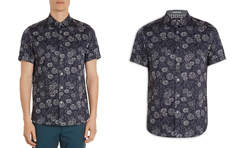 Ted Baker Teval Dotted Floral Regular Fit Button-Down Shirt - Bloomingdale's_2