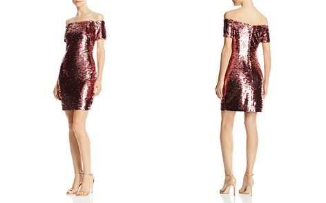Aidan by Aidan Mattox Off-the-Shoulder Sequined Dress - Bloomingdale's_2