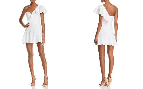 Amanda Uprichard Vanderbilt Ruffled One-Shoulder Mini Dress - Bloomingdale's_2