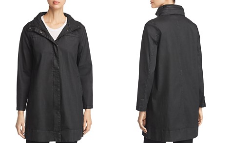 Eileen Fisher Coated A-Line Jacket - Bloomingdale's_2
