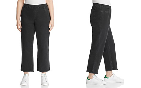 Eileen Fisher Plus Frayed Cropped Legging Jeans in Washed Black - Bloomingdale's_2