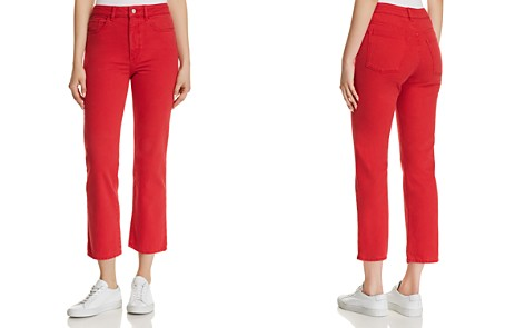 DL1961 Jerry High Rise Vintage Straight Jeans in Outlaw Red - Bloomingdale's_2