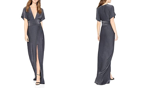 HALSTON HERITAGE Metallic Jersey Kimono-Style Gown - Bloomingdale's_2