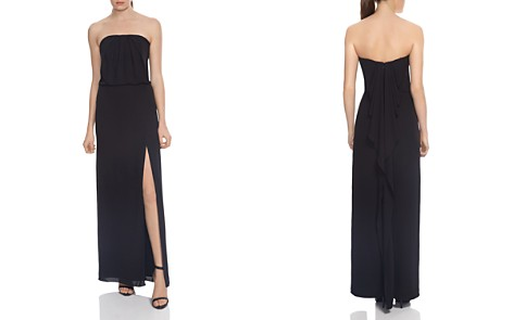 HALSTON HERITAGE Strapless Draped-Back Gown - 100% Exclusive - Bloomingdale's_2