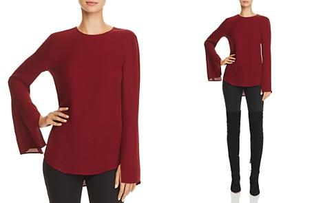 Theory Bringam Bell-Sleeve Silk Top - Bloomingdale's_2