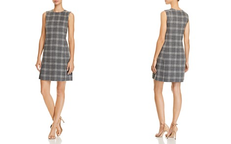 Theory Vented Plaid Dress - Bloomingdale's_2