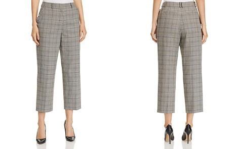 kate spade new york Cropped Wide-Leg Plaid Pants - Bloomingdale's_2
