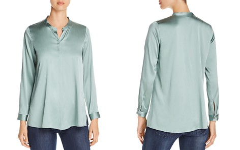 Eileen Fisher Silk Button-Down Top - Bloomingdale's_2