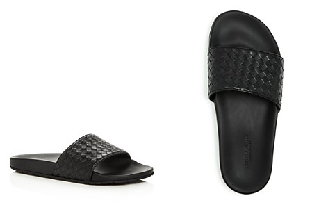 Bottega Veneta Men's Woven Leather Slide Sandals - Bloomingdale's_2