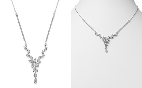 Bloomingdale's Pavé Diamond Leaf Necklace in 14K White Gold, 1.10 ct. t.w. - 100% Exclusive_2