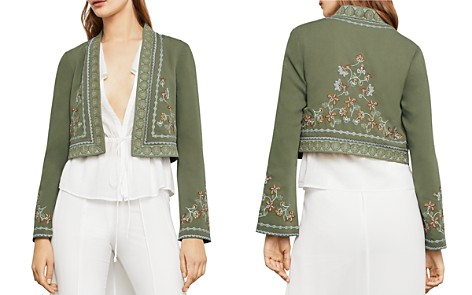 BCBGMAXAZRIA Floral Embroidered Cropped Jacket - Bloomingdale's_2