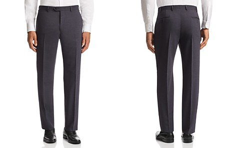 Emporio Armani Tonal Micro-Check-Pattern Tailored Fit Pants - Bloomingdale's_2
