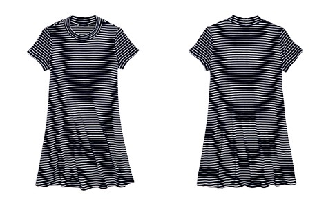 AQUA Girls' Striped Shirt Dress, Big Kid - 100% Exclusive - Bloomingdale's_2