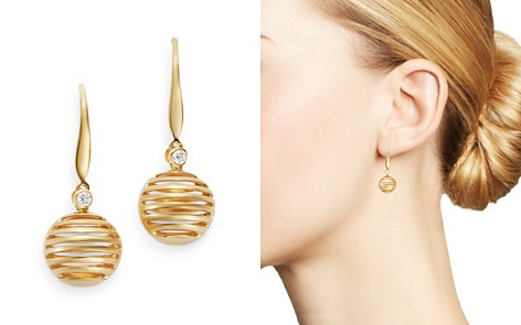 Olivia B 14K Yellow Gold Diamond Spherical Drop Earrings - 100% Exclusive - Bloomingdale's_2