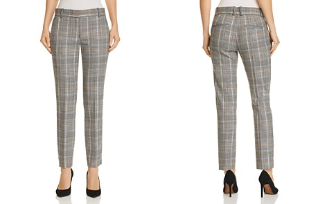 Theory Plaid Straight-Leg Pants - Bloomingdale's_2