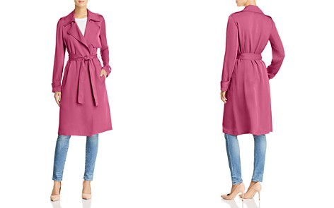 Theory Oaklane Silk Trench Coat - Bloomingdale's_2