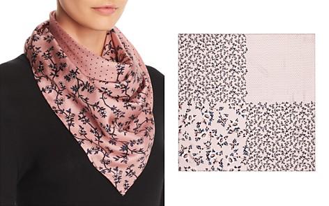 kate spade new york Prairie Rose Patchwork-Print Silk Scarf - Bloomingdale's_2