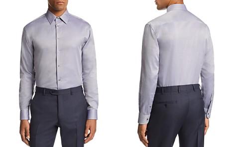 Emporio Armani Micro-Zig Zag-Print Tailored Fit Shirt - Bloomingdale's_2