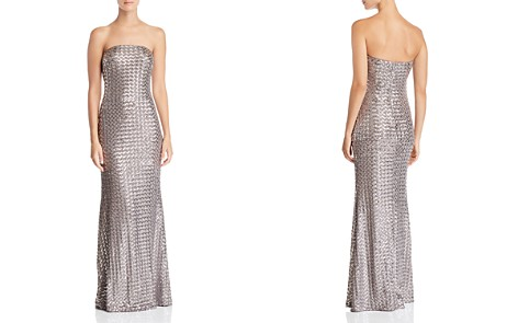 AQUA Strapless Sequined Gown - 100% Exclusive - Bloomingdale's_2