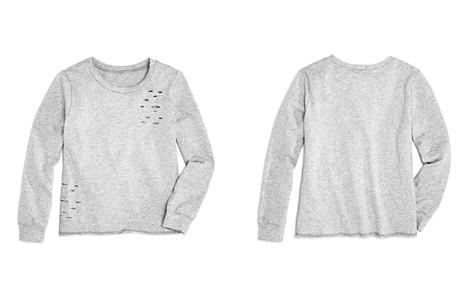 AQUA Girls' Distressed Terry Sweater, Big Kid - 100% Exclusive - Bloomingdale's_2