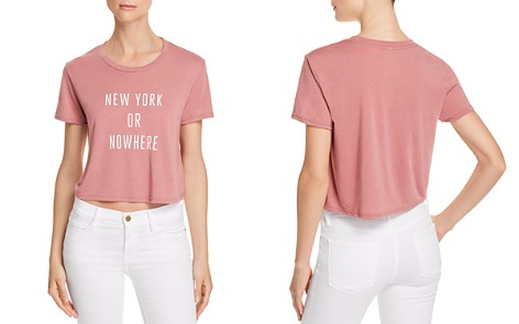Knowlita New York Or Nowhere Cropped Tee - 100% Exclusive - Bloomingdale's_2