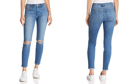 Current/Elliott The Stiletto Distressed Cropped Skinny Jeans in 2 Year Destroy Stretch Indigo - Bloomingdale's_2