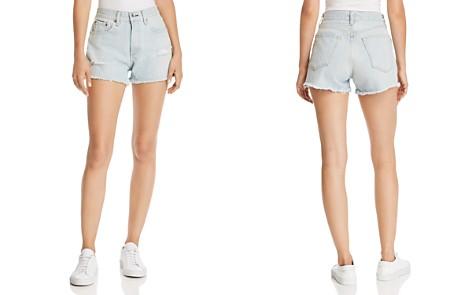 rag & bone/JEAN Justine High-Rise Distressed Denim Shorts in Glena Hole - Bloomingdale's_2