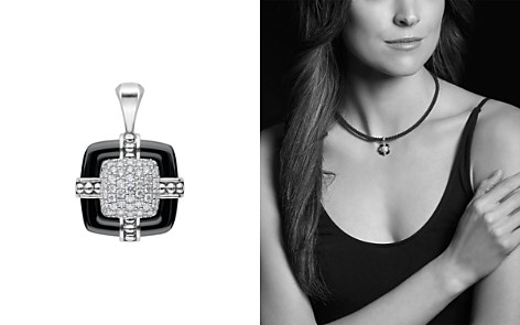 LAGOS Sterling Silver Black Caviar Diamond & Black Ceramic Pendant - Bloomingdale's_2