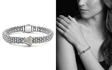 LAGOS 18K Yellow Gold & Sterling Silver KSL Luxe Diamond Pyramid Station Bracelet - Bloomingdale's_2