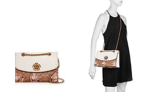 COACH Tea Rose Signature Print Parker Shoulder Bag - Bloomingdale's_2