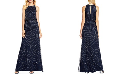 Adrianna Papell Sequined Blouson Gown - Bloomingdale's_2
