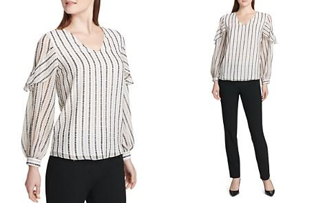 Calvin Klein Dot-Stripe Top - Bloomingdale's_2