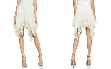 BCBGMAXAZRIA Mosaic Embroidered-Trim Skirt - Bloomingdale's_2