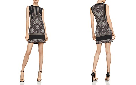 BCBGMAXAZRIA Color-Block Printed Dress - Bloomingdale's_2