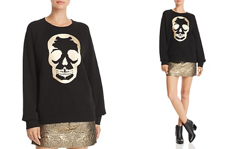 Zadig & Voltaire x AQUA Foil Skull Sweatshirt - 100% Exclusive - Bloomingdale's_2